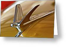 1949 Chevrolet Fleetline Hood Ornament Greeting Card