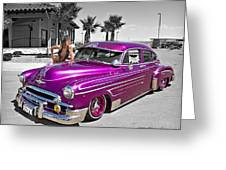 1949 Chevy Bomb_ 25a Greeting Card