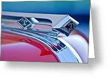 1949 Diamond T Truck Hood Ornament 3 Greeting Card