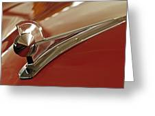 1949 Ford Custom Hood Ornament Greeting Card