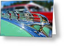 1949 Plymouth Hood Ornament Greeting Card by Larry Keahey
