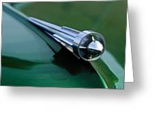 1949 Studebaker Champion Hood Ornament 2 Greeting Card