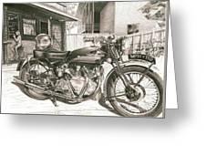 1949 Vincent Rapide Hrd Greeting Card