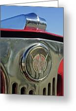 1949 Willys Jeepster Hood Ornament Greeting Card