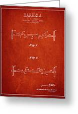 1950 Barbell Patent Spbb04_vr Greeting Card