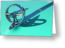 1950 Buick Hood Ornament Greeting Card