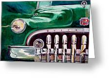 1950 Buick Roadmaster Greeting Card