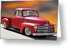 1950 Chevrolet 3100 Pickup 'show Low' I Greeting Card