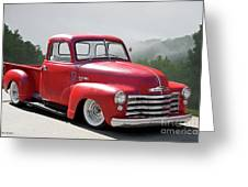 1950 Chevrolet 3100 Pickup 'show Low' II Greeting Card