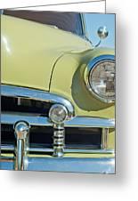 1950 Chevrolet Fleetline Grille Greeting Card