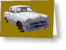 1950 Ford Custom Antique Car Greeting Card