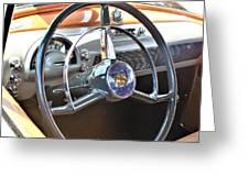 1950 Olds - Oldsmobile 88 Dashboard Greeting Card