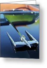 1950 Oldsmobile Rocket 88 Convertible Hood Ornament Greeting Card