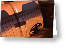 1950 Oldsmobile Rocket 88 Convertible Interior Greeting Card