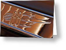 1950 Oldsmobile Rocket 88 Emblem 2 Greeting Card