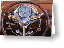 1950 Oldsmobile Rocket 88 Steering Wheel 2 Greeting Card