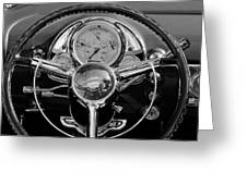 1950 Oldsmobile Rocket 88 Steering Wheel 4 Greeting Card