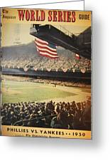 1950 Phillies Vs Yankees World Series Guide Greeting Card by Bill Cannon