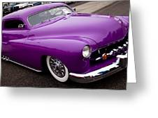 1950 Purple Mercury Greeting Card