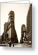 1950 Times Square New York Greeting Card