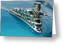 1950 Woodie Wagon One Of A Kind Hood Ornament 2 Greeting Card