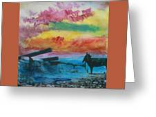 1950's - In The Hopi Village Greeting Card