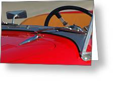 1951 Allard K2 Roadster Steering Wheel Greeting Card