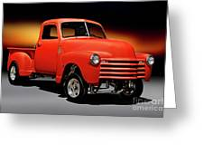 1951 Chevrolet 'gasser Style' Pickup I Greeting Card