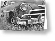 1951 Chevrolet Power Glide Black And White 2 Greeting Card by Lisa Wooten
