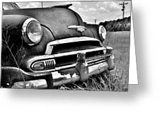 1951 Chevrolet Power Glide Black And White 3 Greeting Card