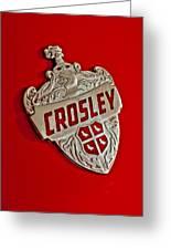 1951 Crosley Hood Emblem Greeting Card