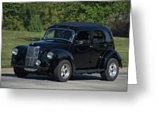 1951 English Ford Prefect Street Rod Sedan Greeting Card