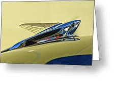1951 Ford Hood Ornament 2 Greeting Card