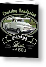1951 Ford Truck Shields Greeting Card