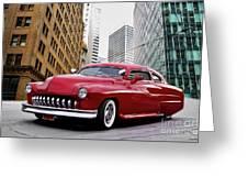 1951 Mercury 'candy Custom' Sled L Greeting Card