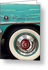 1951 Mercury Montclair Convertible Wheel Emblem Greeting Card