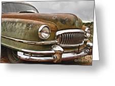 1951 Nash Ambassador Hydramatic Front End Greeting Card