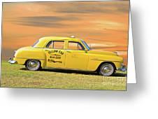 1951 Plymouth Sedan 'yellow Cab' Greeting Card