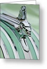 1951 Pontiac Streamliner Hood Ornament 3 Greeting Card