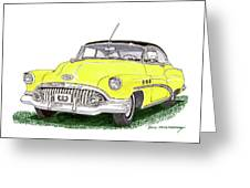1952 Buick Special Greeting Card
