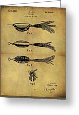 1952 Fish Lure Patent Greeting Card