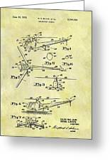 1952 Helicopter Patent Greeting Card