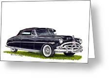 1952 Hudson Hornet Convertible Greeting Card
