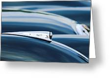 1952 Jaguar Hood Greeting Card