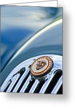 1952 Jaguar Hood Ornament Greeting Card