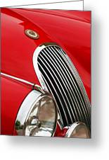1952 Jaguar Xk 120 Grille Emblem Greeting Card