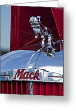 1952 L Model Mack Pumper Fire Truck Hood Ornament Greeting Card by Jill Reger