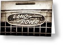 1952 Land Rover 80 Grille  Emblem -0988s2 Greeting Card