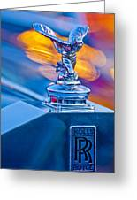 1952 Rolls-royce Silver Wraith Hood Ornament Greeting Card