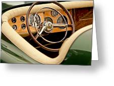 1952 Sterling Gladwin Maverick Sportster Steering Wheel Greeting Card